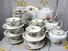 Vintage large W Bavaria Austrian TEA / COFFEE SET / SERVICE with a POT. 10 cups.