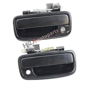 Exterior Door Handle For 95-2004 Toyota Tacoma Front  Side Black Plastic