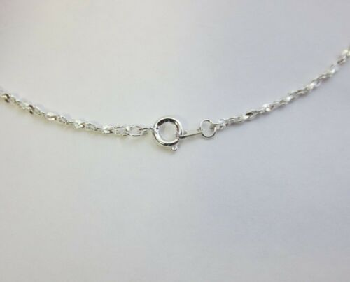 WHOLESALE LOT OF 5 14kt WHITE GOLD PLATED 18 INCH 1MM TWISTED NUGGET CHAINS