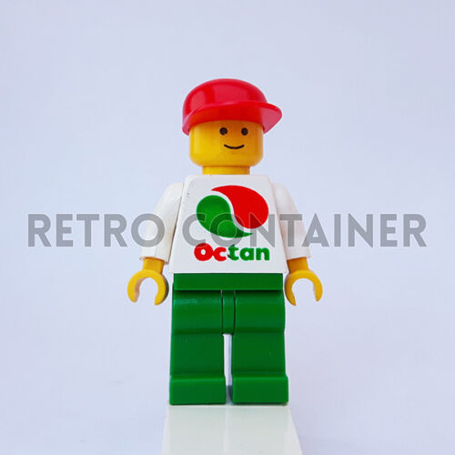 1x oct012 Town Omino Minifig LEGO Minifigures Octan Gas Station Worker