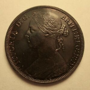 1887-Great-Britain-One-Penny-XF-Cleaned-Priced-Right-Shipped-FREE-R34