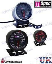 D1 Spec Universal Racing la temperatura del aceite de calibre 60mm Black Dial Jdm Rally Drift