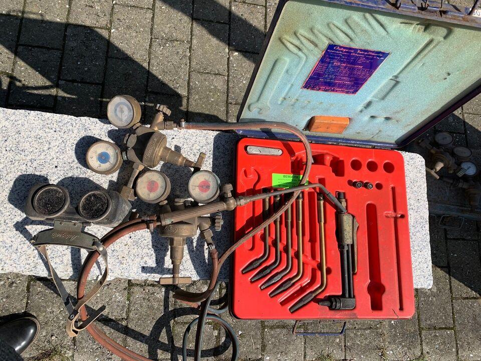 Brændersæt med manometer , AGA