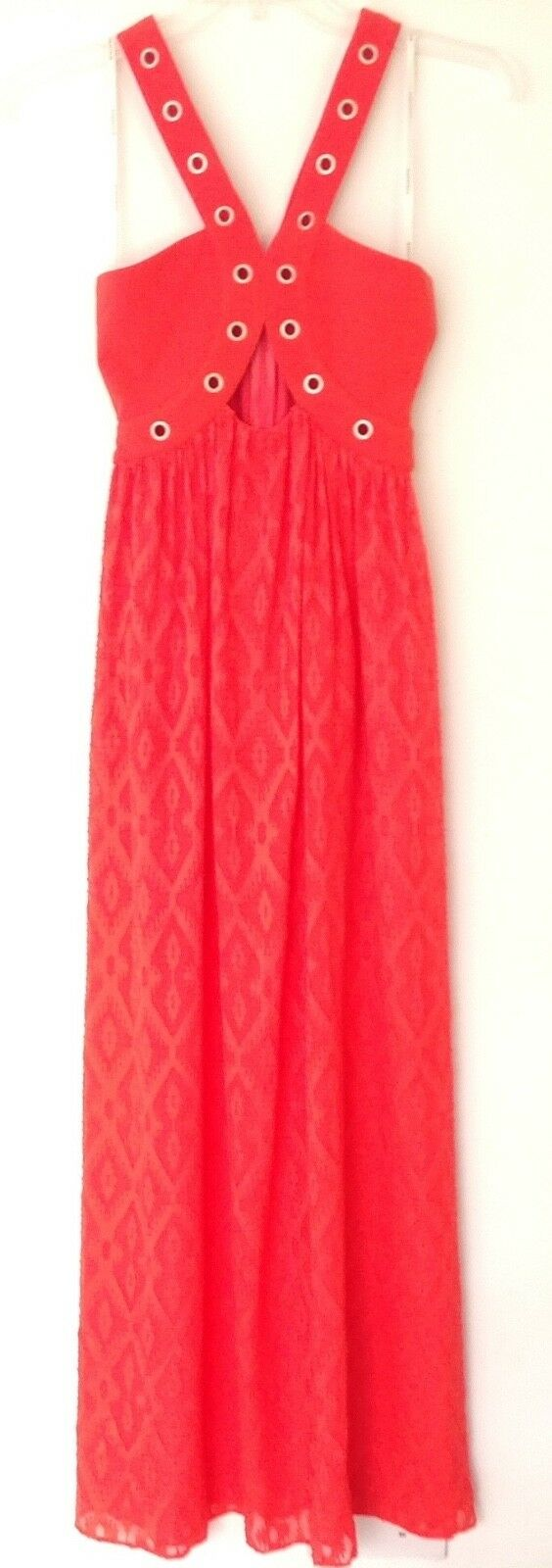 NWT Foxiedox New Ladies X Small orange Cotton Sleeveless Long Long Long Maxi Dress 299dae