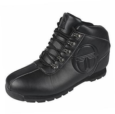 Sergio Tacchini Men's Quay Mid Casual Fashion Work Boots Shoes School black
