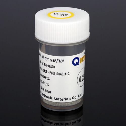 250K pcs//Bottle 0.20mm 0.76mm QWIN BGA Leaded reballing Solder Balls Sn63//Pb37