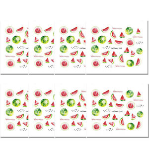 8-Sheets-LEMOOC-Nail-Art-Water-Decal-Fruit-Watermelon-Transfer-Stickers
