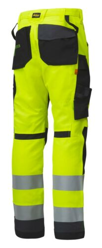 Snickers 6231 High Visibility Trousers Knee Pockets Class 2 Snickers Trouser