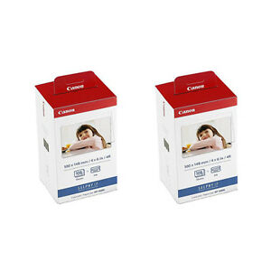 2-Canon-KP-108IN-Color-Ink-and-4x6-Paper-Set-for-SELPHY-CP1200-Printer-3115B001