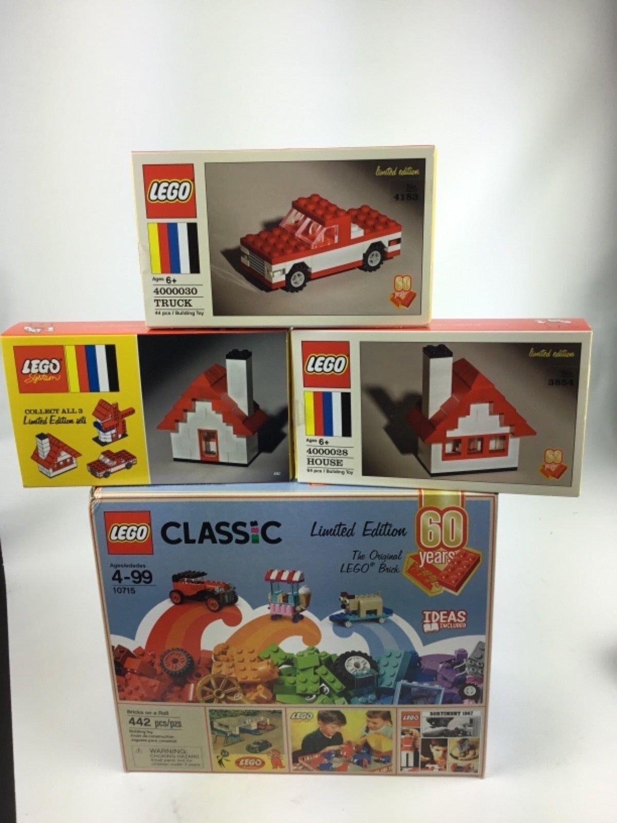 Lego 60th aniversario Lote 10715 Casa 4000028 camión 4000030 De Colección envío gratuito