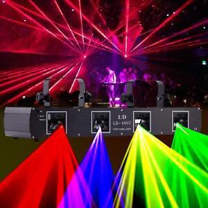Luce-laser-di-fase-di-proiettore-LED-DJ-XMAS-luce-DMX512-7CH-RGPY-4lens-DMX