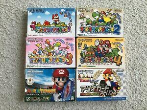 Lot-Super-Mario-Advance-1-2-3-4-TENNIS-KART-GameBoy-Advance-GBA-Japan-CIB-NTSC-J