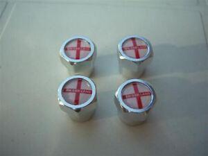 ENGLAND-ST-GEORGE-CROSS-FOOTBALL-CAR-TYRE-VALVE-CAPS-NEW