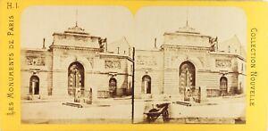 FRANCE-Paris-Ecole-Polytechnique-Entree-Photo-Stereo-Vintage-Albumine-ca-1868