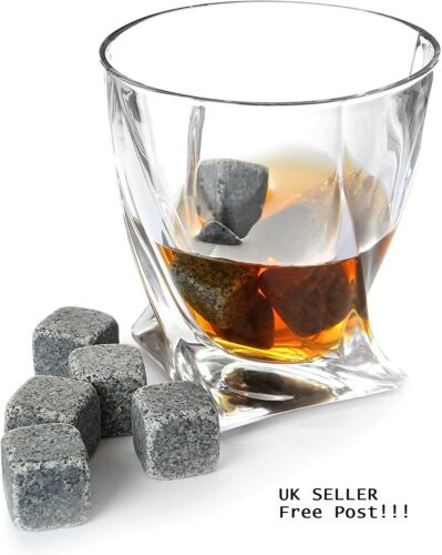 Whisky Sipping Stones SOAPSTONE 9 ICE Cubes /& Velvet Pouch New BOXED Best GIFT
