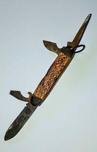Antique Vintage Old Boker Knife possible WWII, Nice patina!