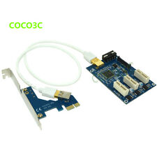 PCI express 1X to 1X 3 slots Riser Card Expansion adapter PCI-e Port Multiplier