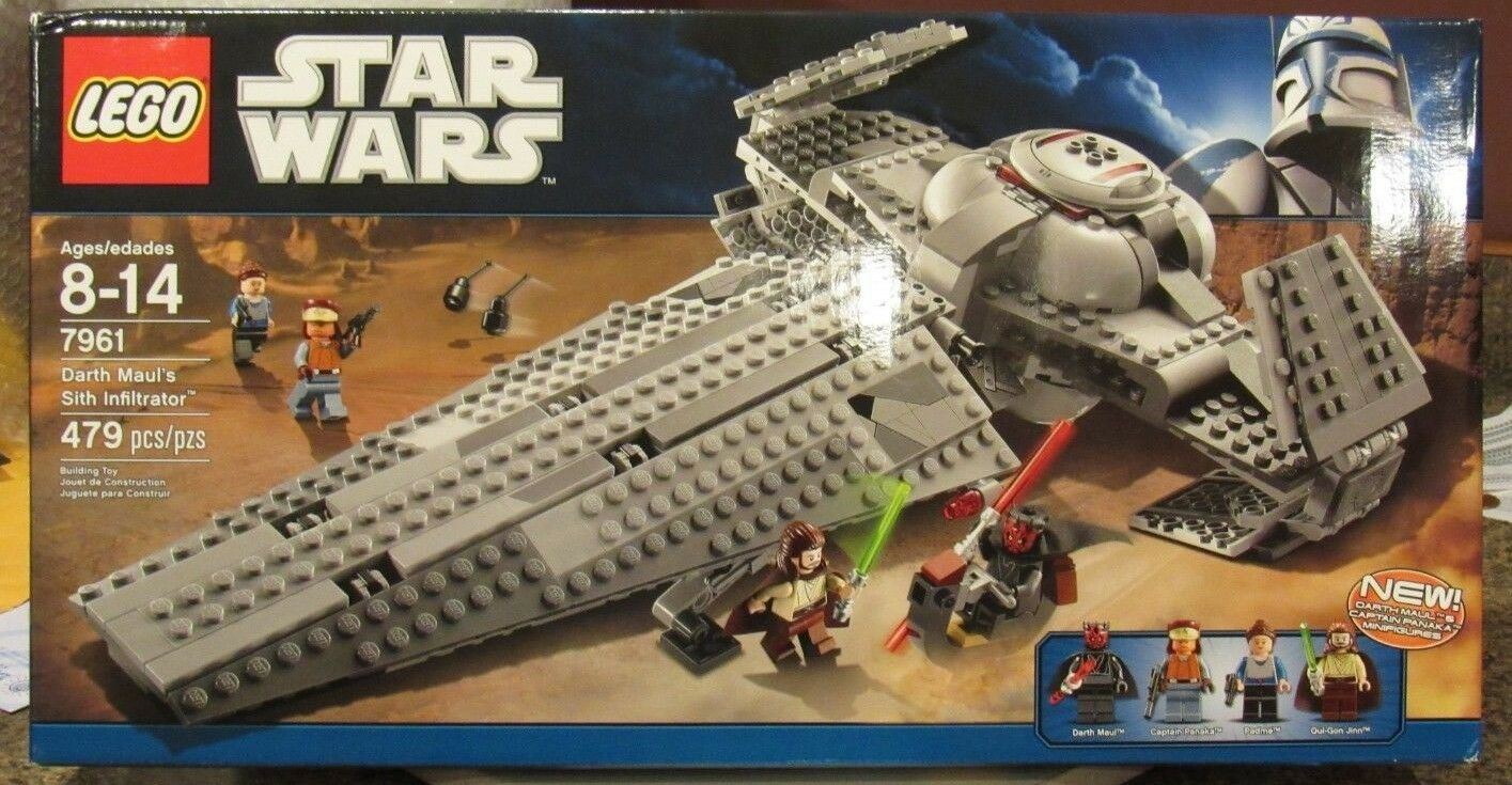 LEGO 7961 Star Wars Darth Maul's Sith Infiltrator Brand New Sealed Box 479 pcs