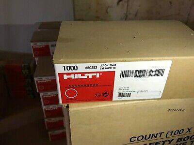 HILTI #50371 .27 CALIBER SHORT CARTRIDGES 6.8//11 M Brand new in Box 1000 each