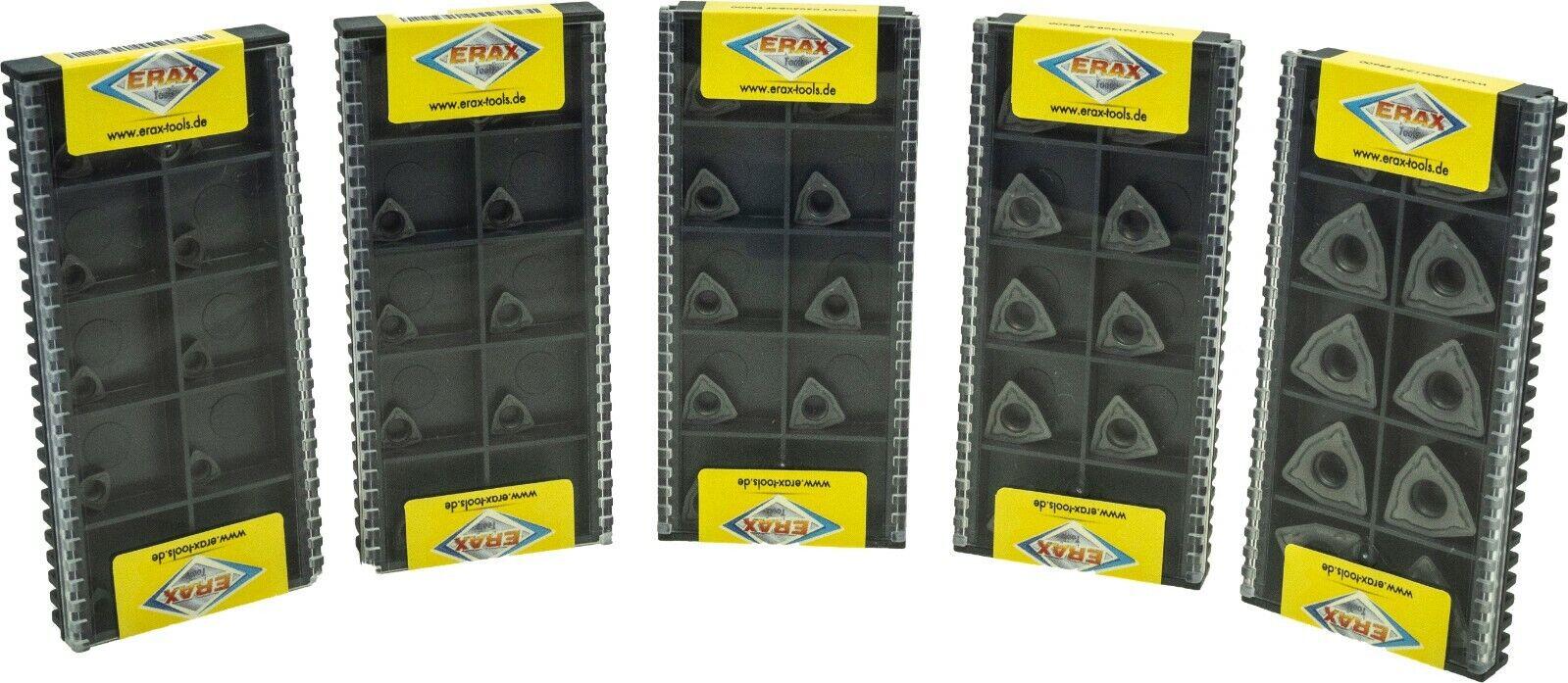10x WCMT050308-SF Wendeplatten für Stahl / Edelstahl und Guss