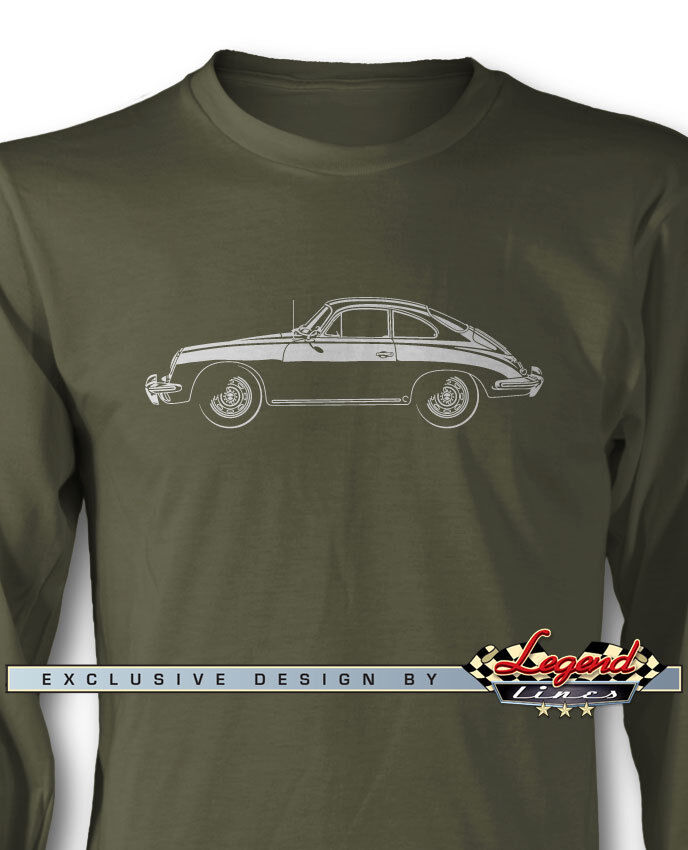 Porsche 356 B Coupe Long Sleeves T-Shirt - Multiple colors & Sizes - German Car