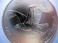 1-OZ.9999 FINE 2014 CANADA 5 DOLLAR EAGLE QUEEN ELIZABETH II SILVER COIN  +GOLD