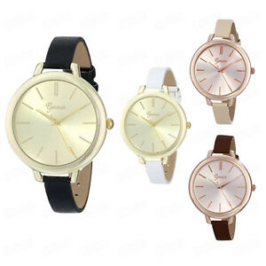 large fashion womens gold leather thin