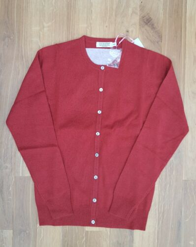 Red Xs Small Cashmere Lochmere Extra Womens 10 Cardigan £170 100 Rrp 8 xIxp1fq