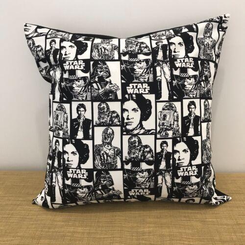"18/"" Made Australia. STAR WARS Black /& White Cushion Cover 45cm"