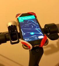 Fixation Smartphone Trottinette Electrique Silicone Grip - Xiaomi M365 (R+R+B)