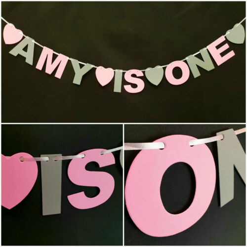 Personalised Birthday Bunting Party Decoration Boy Girl Banner First 1st 2nd 3rd