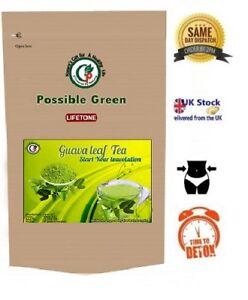 Goyave Leaf Tea-perte De Poids Rapide, Detox Herbal Tea, Plante Entière, 40 Intercalaires-afficher Le Titre D'origine