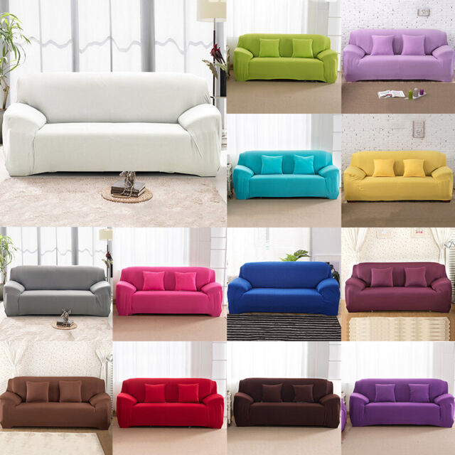 Elastic Slipcover 1//2//3//4 Seaters Stretch Sofa Covers Couch Protector 4 Sizes