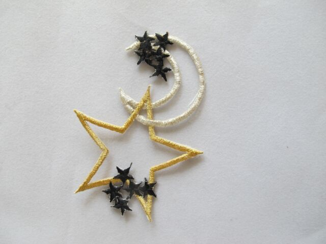 Star Moon Astrology Chain Embroidery Patch Applique