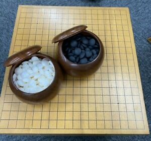 AGF-Fundraiser-Go-Board-Set-20cm-Floor-Board-Slate-amp-Shell-Stones-Quince-Bowl