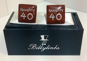 Billylinks-Silver-Plated-Naughty-40-Birthday-Cufflinks-Gift-for-Him-Stocking-Fil