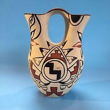 Native American Pottery Navajo Wedding Vase Vintage Indian