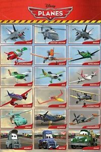 Details about PLANES ~ 18 CHARACTERS 24x36 MOVIE POSTER Dusty Echo Bravo  Ripslinger Disney