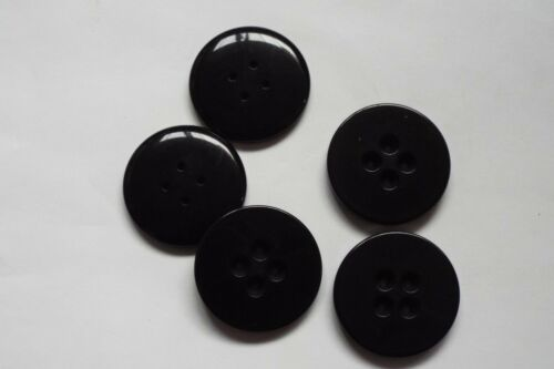 8pc 34mm Chunky Gloss Black Coat jacket Cardigan Kids Knitwear Button 0664