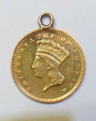 1874 Gold Coin Indian Princess Head