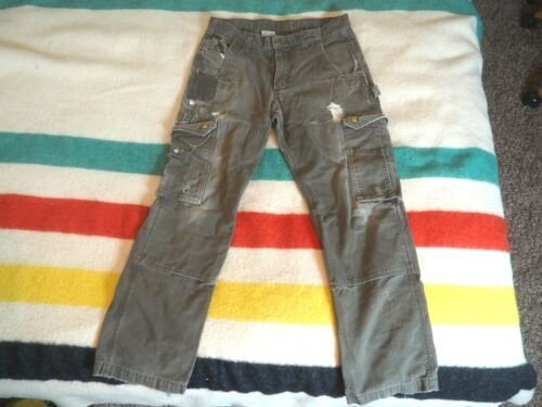 Destroyed Carhartt Canvas Cargo Pants Faded Distre