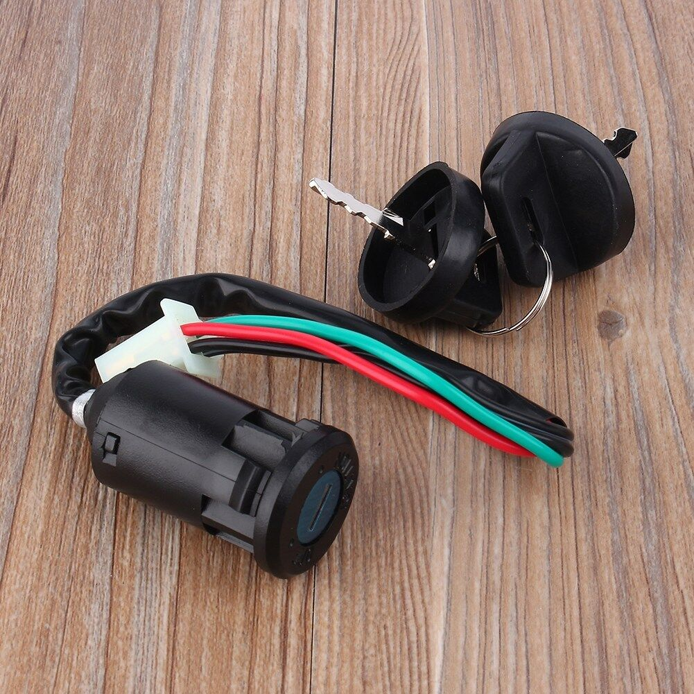 4 Wire Ignition 1 Key Switch Waterproof CO Ignition Key Switch for 50 90 110 125cc ATV for TAOTAO Bike Black