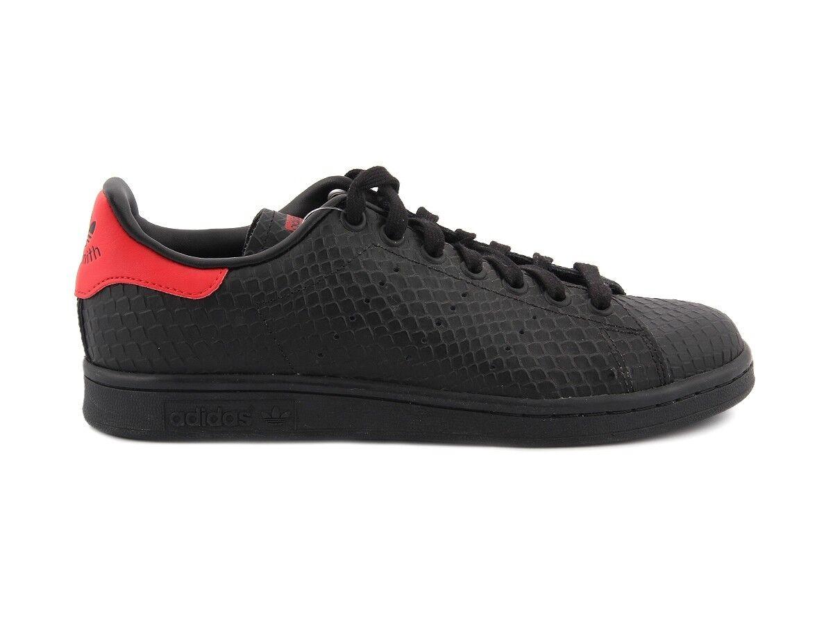 f6f257aa2f3 ADIDAS STAN SMITH S80502 negro rojo zapatos zapatillas Unisex S80502 ...