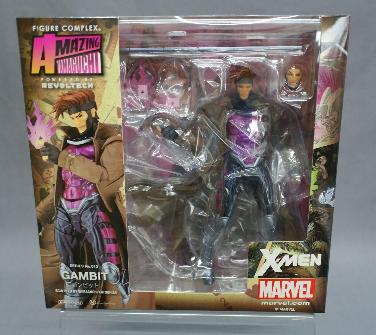 Marvel Amazing Yamaguchi Revoltech GAMBIT X-MEN KAIYODO Complex Action Figure KO