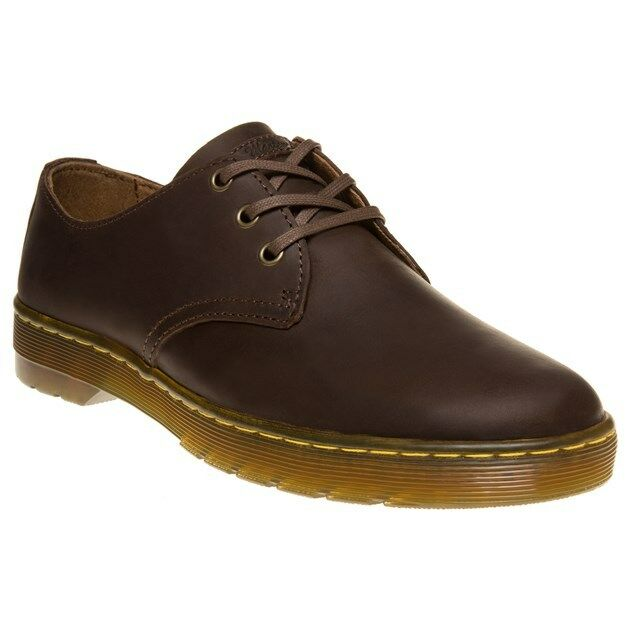 New Mens Leather Dr. Martens Brown Coronado Leather Mens Shoes Lace Up 0e5a5a