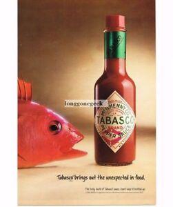 1992-McIlhenny-Tabasco-Sauce-Hot-Pepper-Redfish-Red-Fish-Vtg-Print-Ad