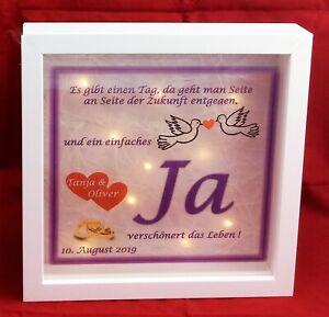 Details Zu Hochzeitsgeschenk Geschenk Hochzeit Bild Personalisiert Beleuchtet Bilderrahmen