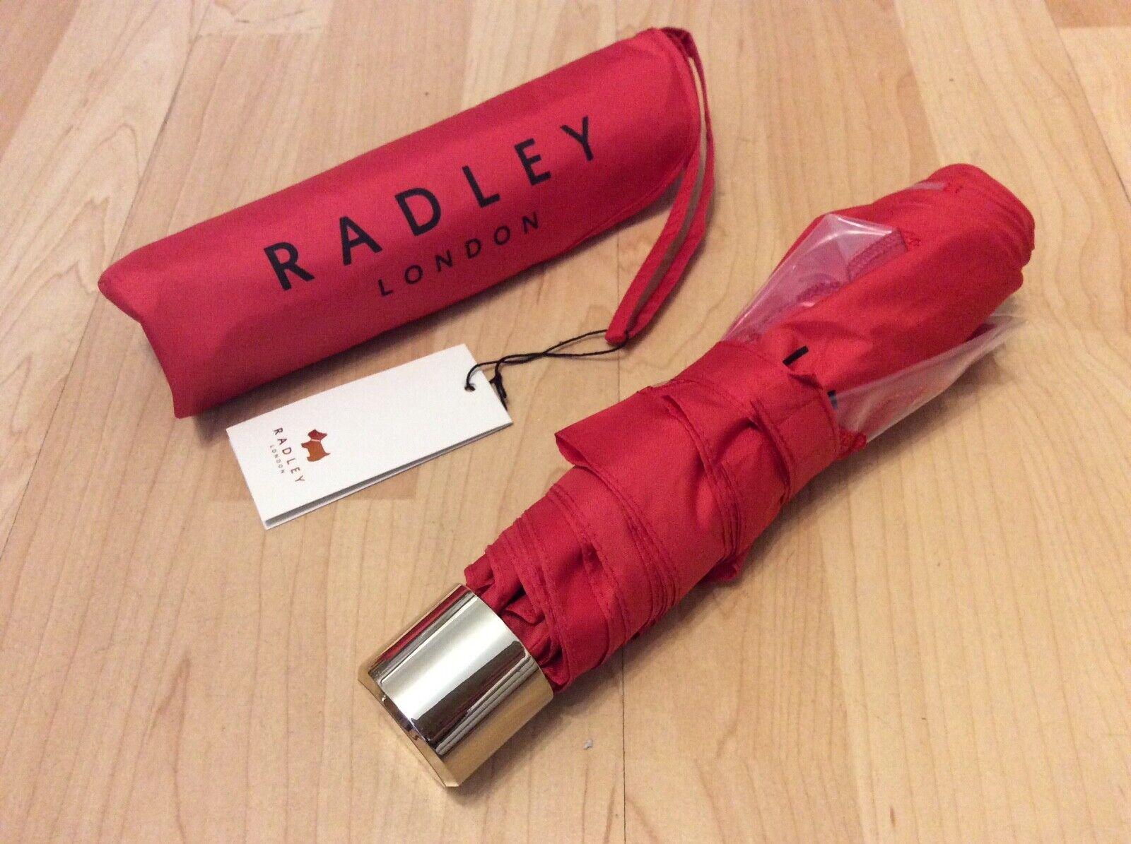 "Radley ""Cut Out Radley"" Red Telescopic Umbrella. BRAND NEW UNUSED"