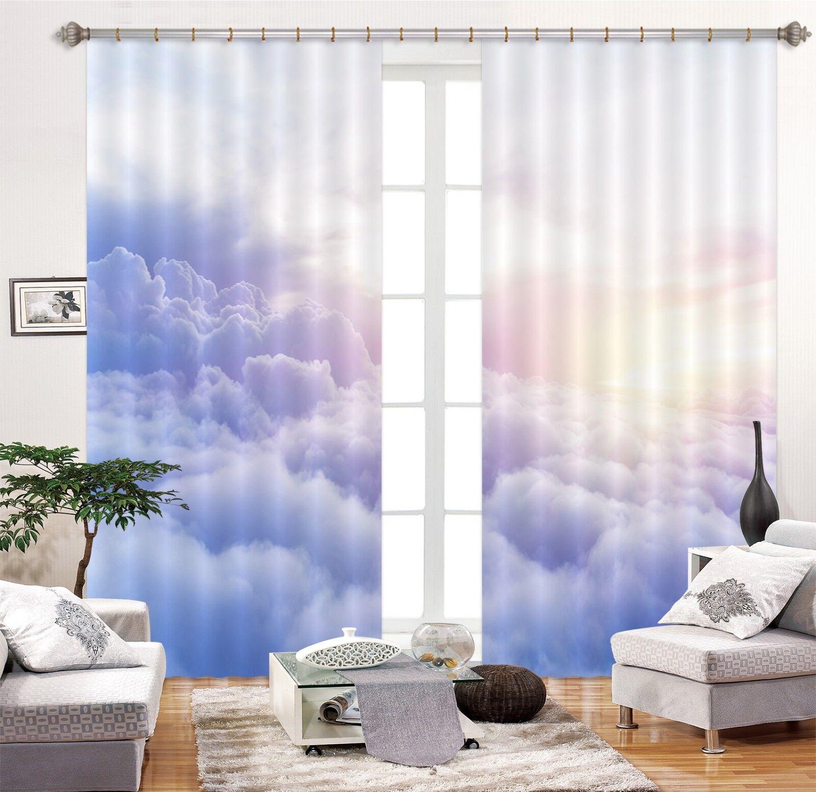 3d cielo nuvole 67 blocco foto sipario pressione sipario tende tessuto finestra de