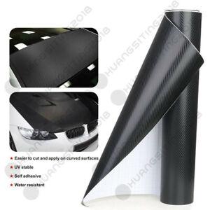Car Sticker Carbon Fiber Texture Black Vinyl Wrap Decal Film Sheet Pedal Protect